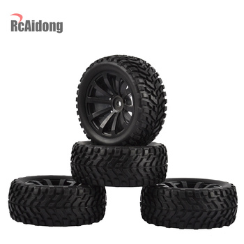 4PCS 1/10 RC Rally Car Grain Rubber Tires Off-road Tires and Wheels for Traxxas Tamiya HSP HPI Kyosho RC On Road Car 4pcs 1 8 rc car rubber tyres plastic wheels for redcat team losi vrx hpi kyosho hsp carson hobao 1 8 buggy on road car