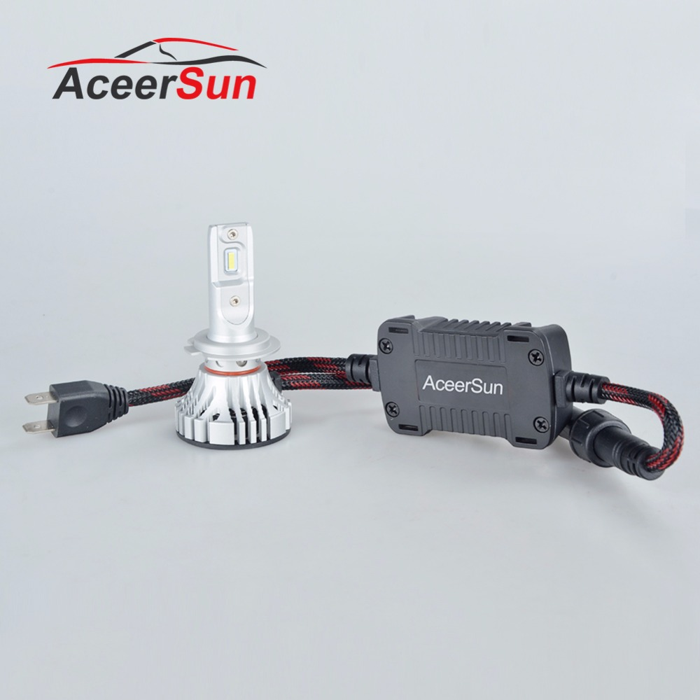 Aceersun H7 Led H4 LED Car Headlight Bulbs H11 H1 H3 72W COB 9005 9006 9007 9012 12000LM 6500K Auto Front light fog Bulb DC12v 2x h7 car led headlight auto p7 h4 h11 h1 h3 h7 h8 h9 9005 9006 9012 880 881 white csp led headlights bulb fog light 12v 24v 72w