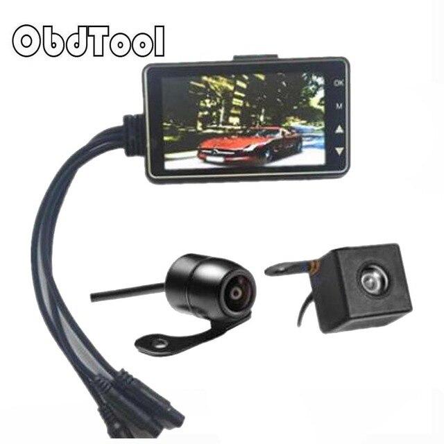 ObdTooL 2018 NEW MT80 HD 1080P Sports Waterproof Action Helmet Bike Bicycle Motorcycle Dual Lens Mini DVR Camera Video Recorder