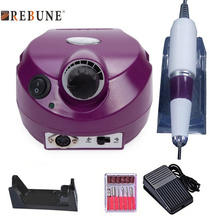 REBUNE 110/220V 35000 RPM Pro Electric Nail Drill File Bit Machine Manicure Kit Pro Salon Home Nail Tools Set DHL Free Shipping цена в Москве и Питере