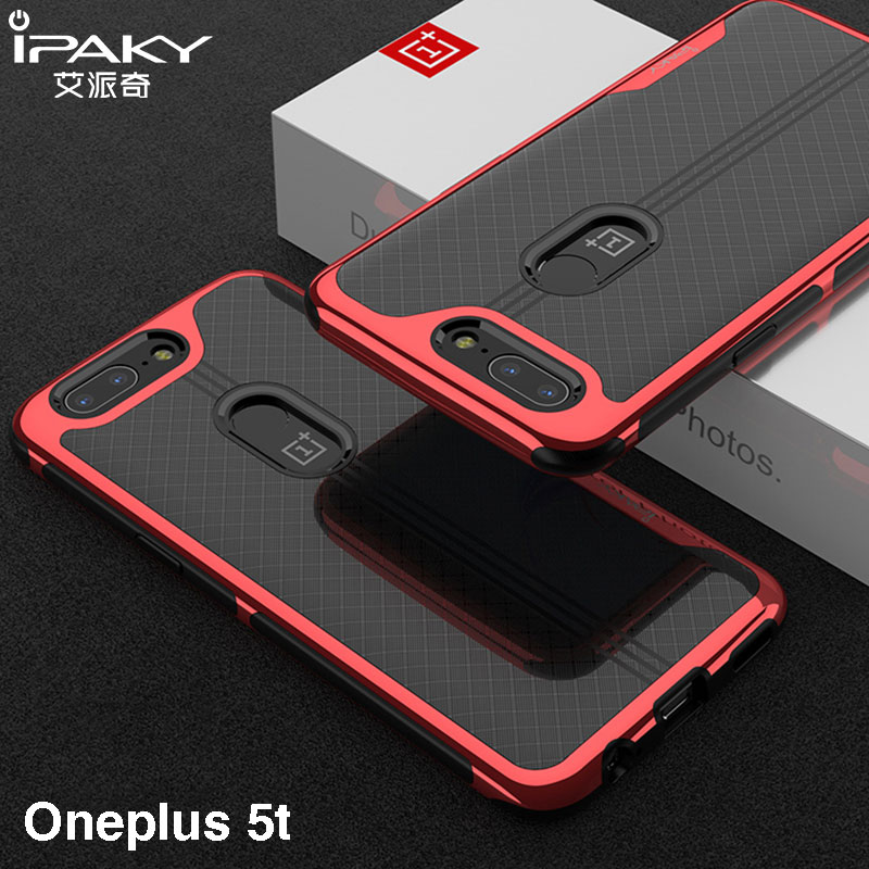 OnePlus 5T Case cover iPaky Brand one plus 5t case Armor Electroplated Bumper TPU Hybrid Coque Shockproof Case for OnePlus 5T
