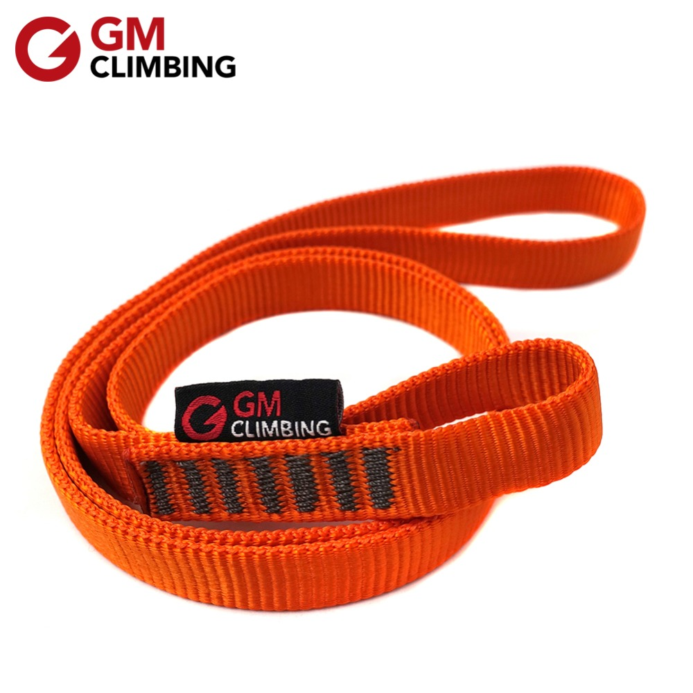 22kN Rock Climbing Sling Rope Protector CE / UIAA Nylon Bearing Strap Reinforce Rope Belt Arborist Mountaineering Equipment
