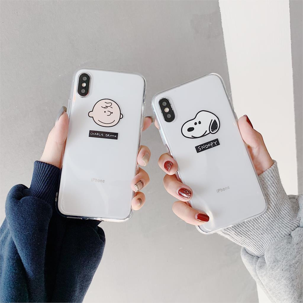 For iPhone X Case Snoopy Charlie Phone Case for iphone 6 6S 7 8 Plus X XR XS Max Cute Cartoon Cover Soft TPU Capa little book of earrings