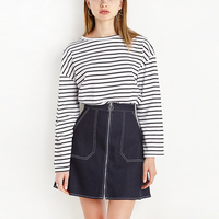 Skirts Womens 2017 Saia Jeans Faldas Summer Denim Skirt High Waist Mini Woman A Line Short