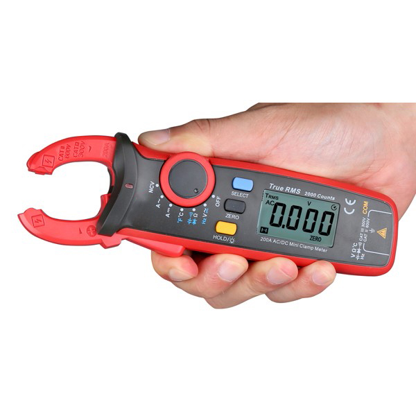 Mini Clamp Meter Ammeter Voltmeter Resistance Capacitance Tester Digital Auto True RMS Clamp Multimeter Earth Ground Multimeter f47n multimeter pointer mechanical capacitance meter ammeter voltmeter pocket