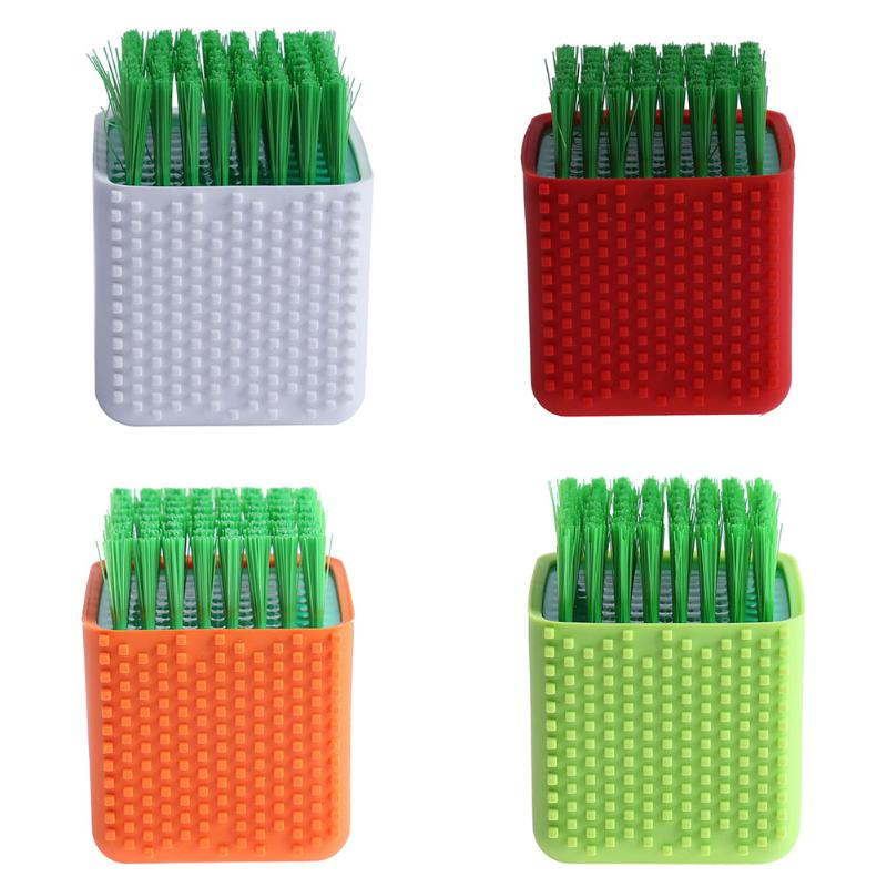 Dual-use Silicone Brush Household Silica Gel Laundry Brush with Soft Hair Cleaning Brush Multifunction Clean Brush 75 x 55 x55mm