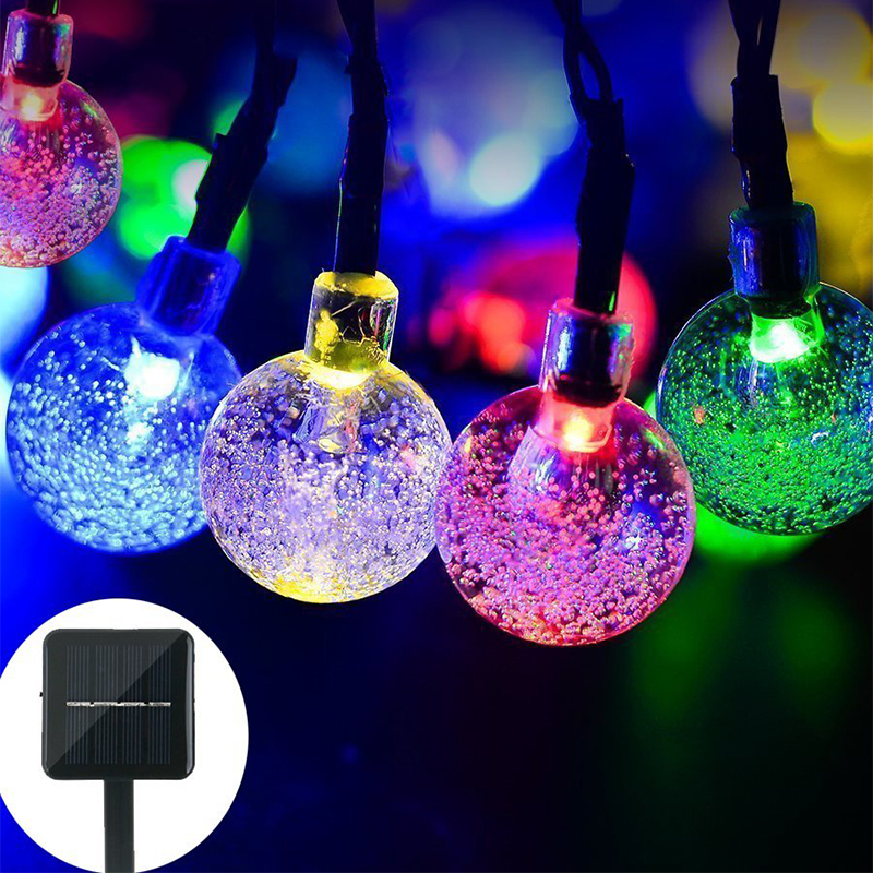LYFS 4/6M 20/30 LED Solar Bubble String Lights Bulbs Decorative Lights For Tree Home Wedding Party Garden Garland Decoration