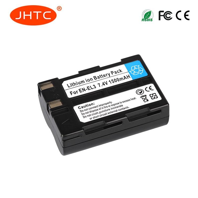 JHTC 1500mAh EN-EL3 EN-EL3A Camera Battery For Nikon D100 D70Outfit D70s Set D50 Set D100 D70 D800 D800E V1 D11 D90 DSLR BatteryJHTC 1500mAh EN-EL3 EN-EL3A Camera Battery For Nikon D100 D70Outfit D70s Set D50 Set D100 D70 D800 D800E V1 D11 D90 DSLR Battery