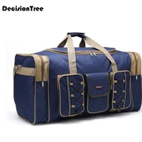 Durable New Multicolor Canvas Foldable Luggage Travel Bags Duffel Bag Large Cpacity Men Women Travel Handbags