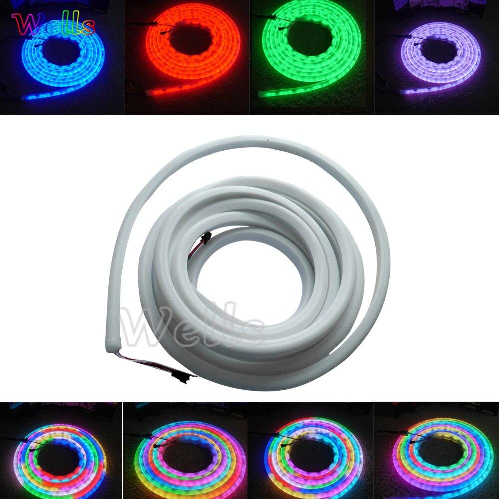 Haute qualité 5 m/Roll 30/60 LED/m WS2811 WS2812B SK6822 flex néon numérique rvb rêve couleur LED pixel lumière