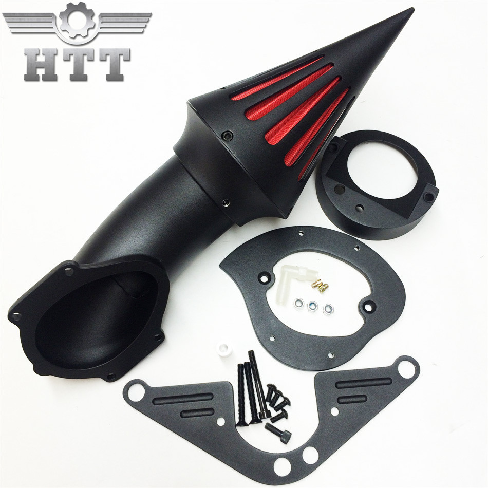 Aftermarket Motorcycle Parts Spike Air Cleaner Intake For Yamah Road Star 1600 XV1600A 1700 XV1700 BLACK 1999-2012 aftermarket motorcycle parts chrome spike air cleaner for yamaha road star 1600 xv1600a 1700 xv1700 1999 2012