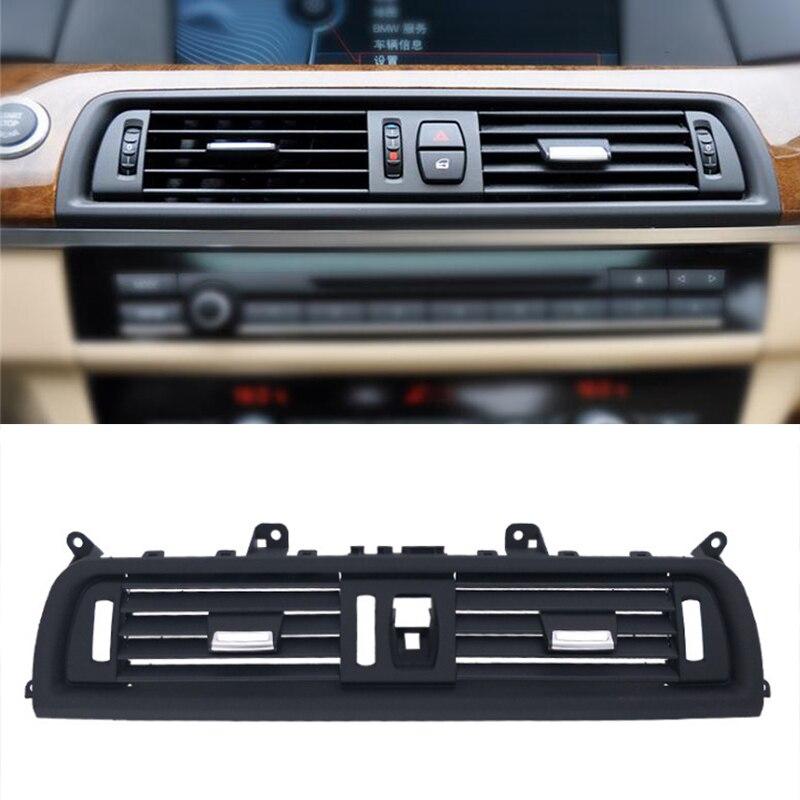 Couverture centrale de décoration de sortie de climatiseur intérieur de style de voiture pour BMW série 5 F10 F18 matériel améliorer les accessoires d'auto