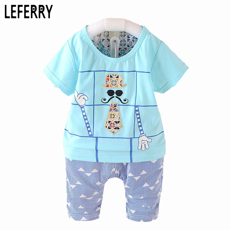 50%OFF Kids Summer Clothes Set Baby Boy Clothing Set Plaid Vest Tie Tshirt + Shorts Pants Gentleman Suit Casual Wear