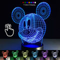 Colourful Mickey Mouse 3d Table Lamp Luminaria Led Night Lights Kids Children's Room Indoor Lighting Great Gift For Kids