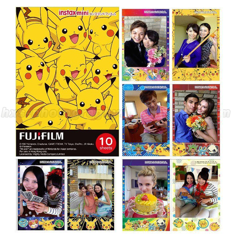 Galleria fotografica Limited Pokemon Pikachu Fujifilm Instax Mini Instant Film 10pcs Photo Paper For Mini 8 70 7s 7 Camera & Share Smartphone Printer