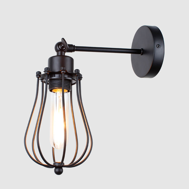 vintage wall lamp American indoor light bedside lamps aisle industrial sconce bedroom for home lighting 110V/220V E27 Wall light 2