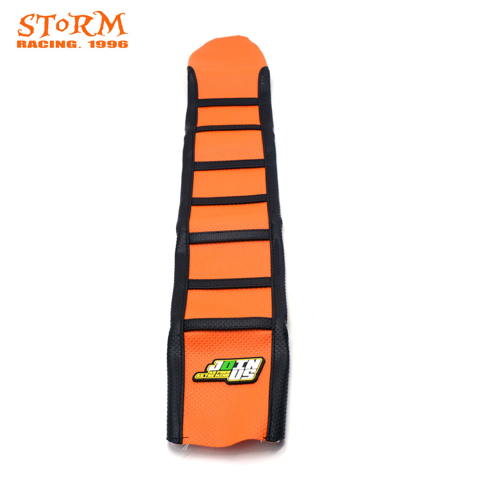 Striped Rubber Gripper Soft Seat Cover For KTM XC EXC 85 125 150 200 250 300 350 400 450 500 505 525 530 XC125 XC250 EXC125 2016