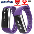 YANZIWU M2 Banda Coração Taxa de Pulso Medidor de Pressão Arterial Inteligente Pulseira Relógio De Fitness Smartband para iOS Android PK Fitbits ID107