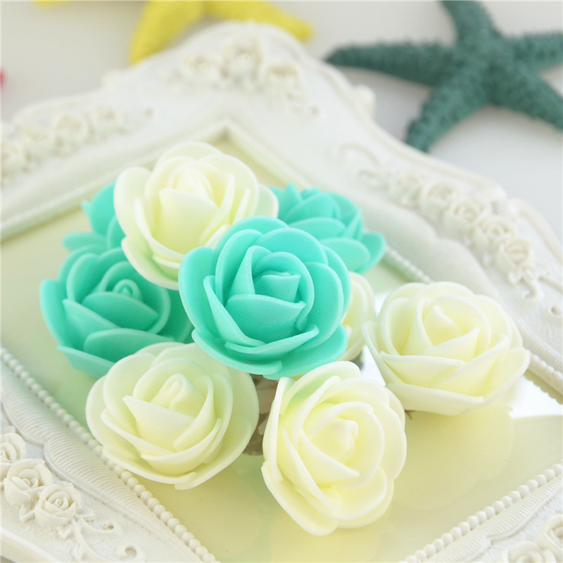 50pcs/Bag Multicolor Mini Rose Head Artificial Flowers For Wedding And Festival Party 2