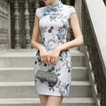 S-XXL Plus Size 2016 Summer New Cheongsam Vintage Qipao Dress Women Traditional Chinese Oriental Dresses Vestidos