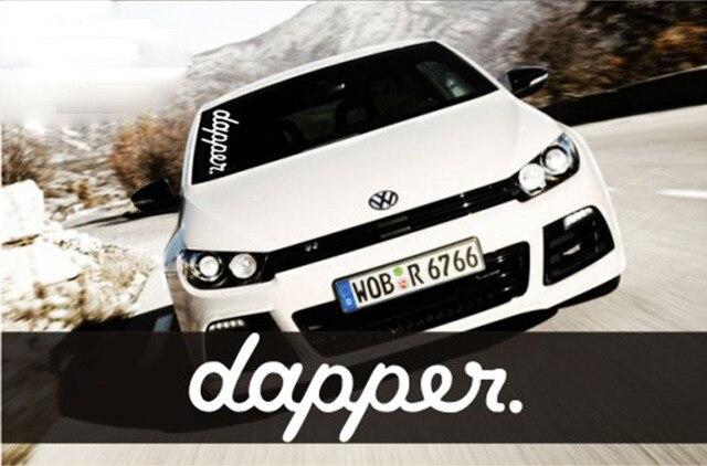 Hellaflush dapper die cast vinyl decals car decal sticker windshield stickers for bmw vw toyota honda