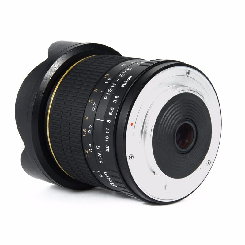 8mm F/3.5 Ultra Wide Angle Fisheye Lens for APS-C/ Full Frame Nikon D800 D700 D30 D50 D5500 D7000 D70 D90 D3 DSLR Camera 9