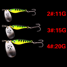 SEAPESCA Baits Sequins  11g 15g 20g isca artificial  Metal wobbler fishing lure minnow Spoon  carp fishing free shiping ZB194