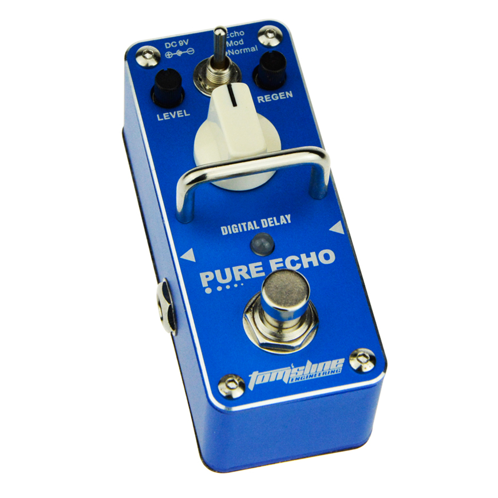 AROMA APE-3 PURE ECHO Digital Delay Guitar Mini Analogue Effect True Bypass new arrival aroma ape 3 pure echo digital delay electric guitar effect pedal mini single effect true bypass pedal
