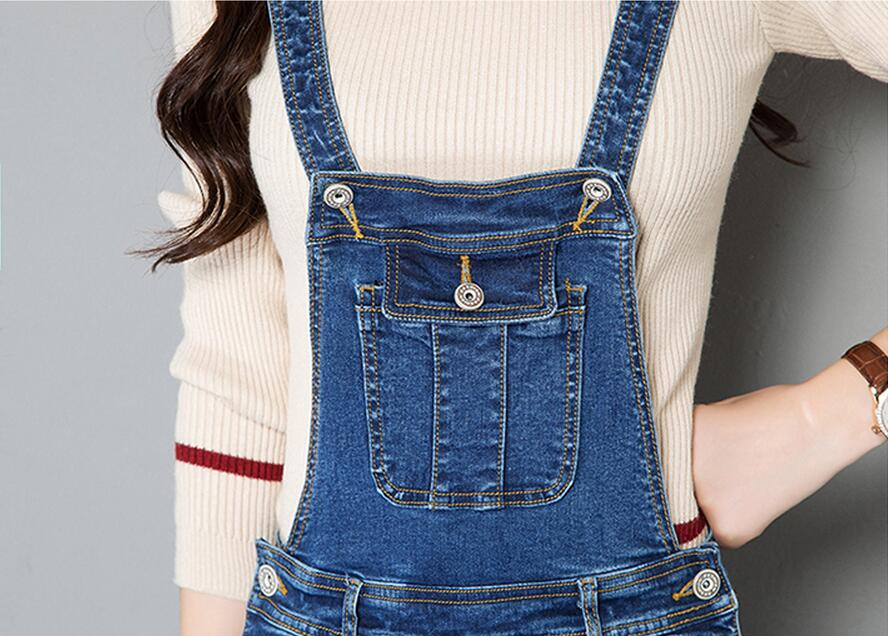 daab576c50d3 2019 New Casual Denim Overalls Jeans Women Jumpsuit Stretch Slim ...