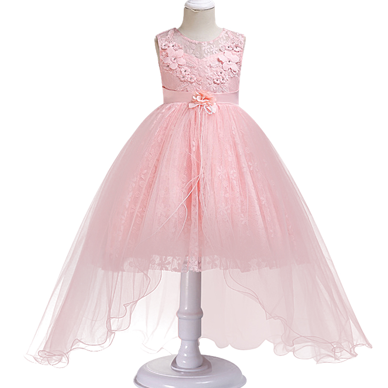 Baby Children Clothing Ceremonies   Dress   Beading   Flower   Elegant Princess Lace   Girls     Dress   For Wedding   Flower     Girl     Dresses