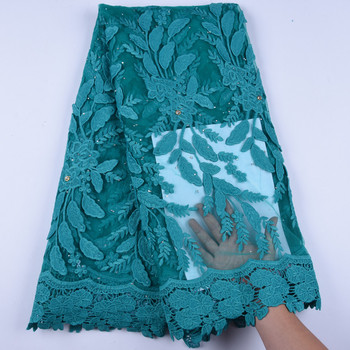Cotton Lace Nigerian Lace Fabrics Milk Silk Embroidery African Tulle French Lace Materials For Women Dress 5 Yards A1606