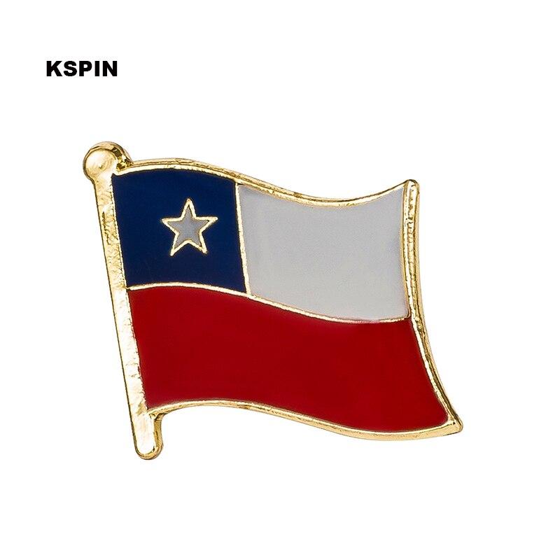 شيلي العلم شارة دبوس طية صدر السترة دبوس 100 قطعة الكثير بروش الرموز KS 0216-في شارات من المنزل والحديقة على  مجموعة 1
