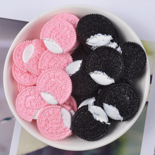 10Pcs/Lot Chocolate Chip Cookies Polymer Slime Charms Modeling Clay DIY Kit Accessories Box Toy For Children Slime Supplies 10pcs slime simulated love candy polymer slime box toy for children charms modeling clay diy kit accessories kids plastic gift