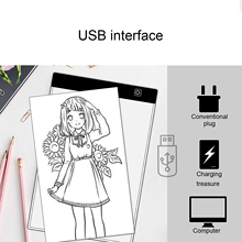 Tablet Drawing Painting Board Diamond Digital LED Vococal for Animation 3-Level Pad Usb-Powered