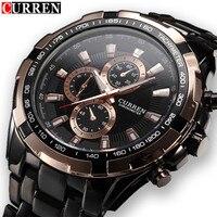 CURREN Luxury Brand Men Watches Stainless Steel Analog Mens Quartz Watch Fashion Male Wristwatch Sport Clock