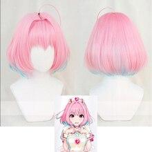 Idolmaster kopciuszek dziewczyny Cosplay peruki Yumemi Riamu 35cm krótki Bobo stylizowany peruka żaroodporne włosy syntetyczne + czapka z peruką