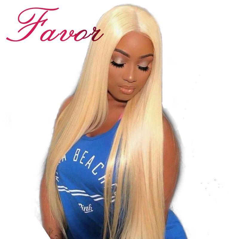 Seidige Gerade 613 Blonde Spitze Front Menschliches Haar Perücken 180% Dichte Brasilianische Spitze Front Remy Haar Perücke Pre Gezupft Favor haar 8-24