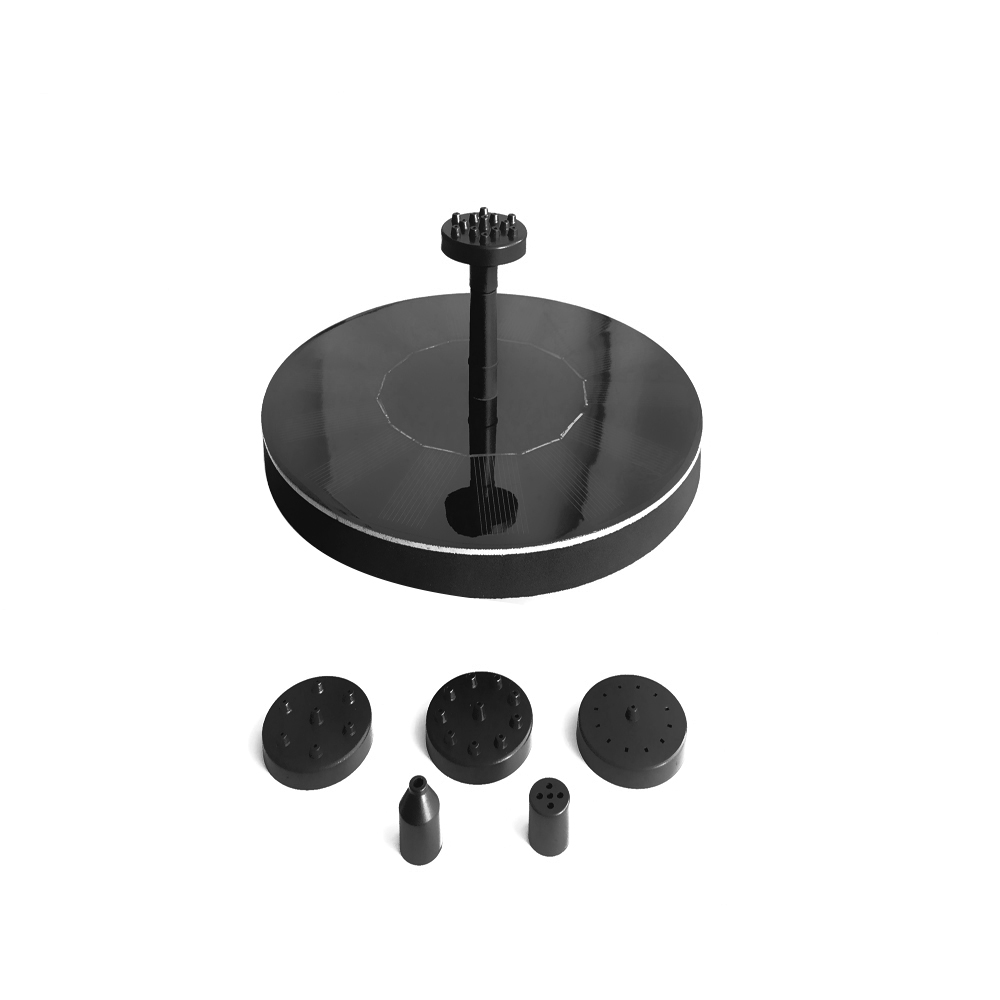 Solar Water Pump Birdbath Round Small Pond Garden Decoration mini water pumps micro pump for water Water-height 65cm DC30S-0708RSolar Water Pump Birdbath Round Small Pond Garden Decoration mini water pumps micro pump for water Water-height 65cm DC30S-0708R