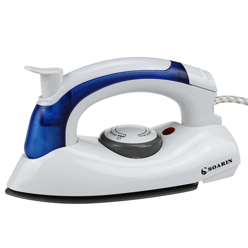 SOARIN Mini Electric Steam Iron For Clothes Iron With 3 Gears Teflon Baseplate Foldable Handheld Flatiron For Home Traveling tinton life mini portable foldable electric steam iron with 3 gears teflon baseplate handheld flatiron for home travelling