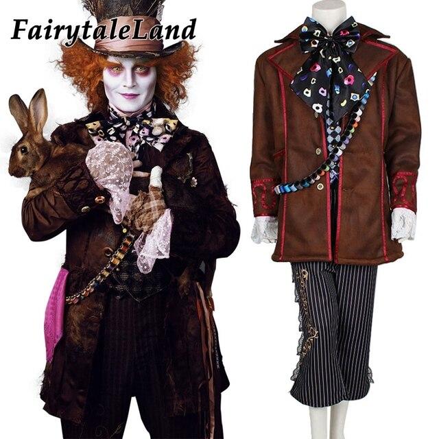 Alice In Wonderland Mad Hatter Cosplay Costume Adult Halloween