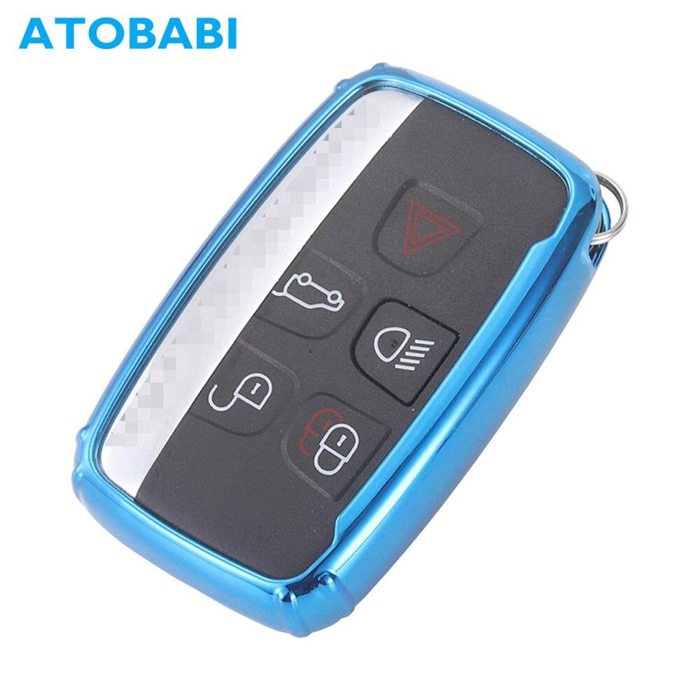 ATOBABI Weiche TPU Auto Schlüssel Fall Fern Fob Shell Protector Haut für Land Rover LR4 Jaguar XK XKR XF XFR XJ XJL Smart Auto Schlüssel Abdeckung