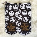 2016 New 3D Printed Skull Cartoon Graffiti Summer Sock Hipster Unisex Men Women Low Cut Short Ankle Socks Calcetines Mujer