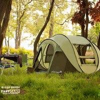 Россия Бесплатная доставка Супер Автоматическая 5 6 человек корейский бренд строительство Бесплатный счет семья Пикник палатка Кемпинг пал