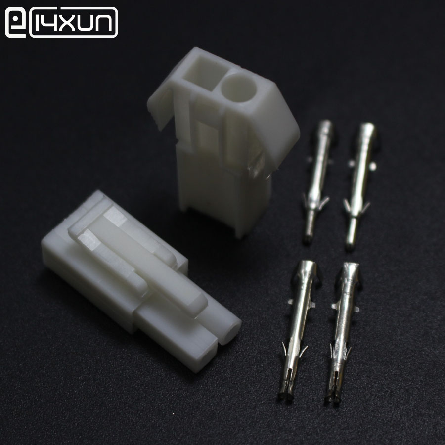 5Sets EL-2P Small tamiya Electronic <font><b>Connector</b></font> <font><b>4.5mm</b></font> EL 2P Multipole Connectors Male Female Plug + terminals image
