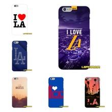 d48bea5d57cf I Love Los Angeles LA Soft Silicone phone Case For iPhone X 4 4S 5 5S 5C SE 6  6S 7 8 Plus