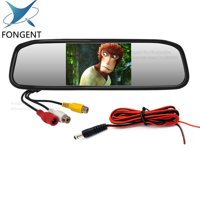 Fongent 5 Digital Color TFT 800*480 LCD Car Parking Mirror Monitor 2 Video Input For Rear view Camera Parking Assistance System
