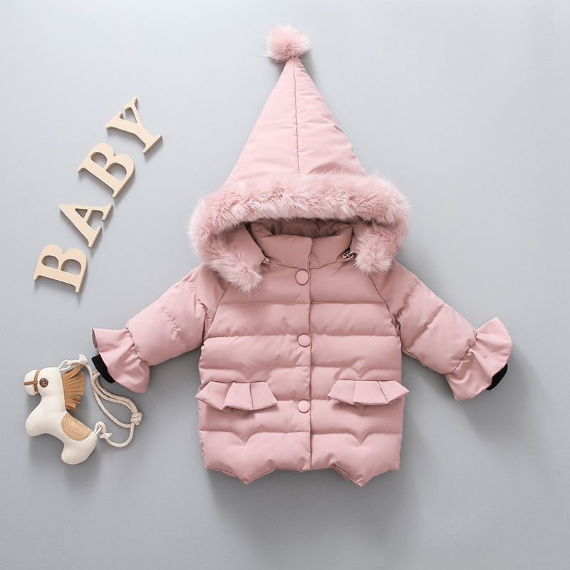 Winter Jackets for Girls Warm Coat Baby Girl Winter Clothes Outerwear Children Clothing 2018 New Cotton Baby Girls Thick Jacket стоимость