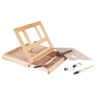 High quality Beech wood multifunctional portable folding laptop suicase type easel