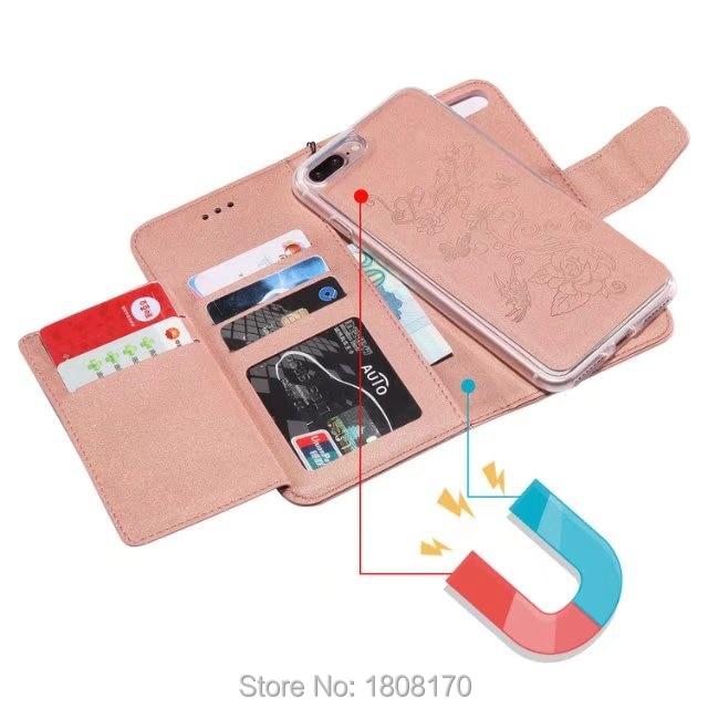 Магнитная Съемная гибрид кожаный чехол для iPhone X 8 i8 7 Plus i7 6 6 S Huawei P8 Lite 2017 p10 Lite кошелек Чехол 35 шт.