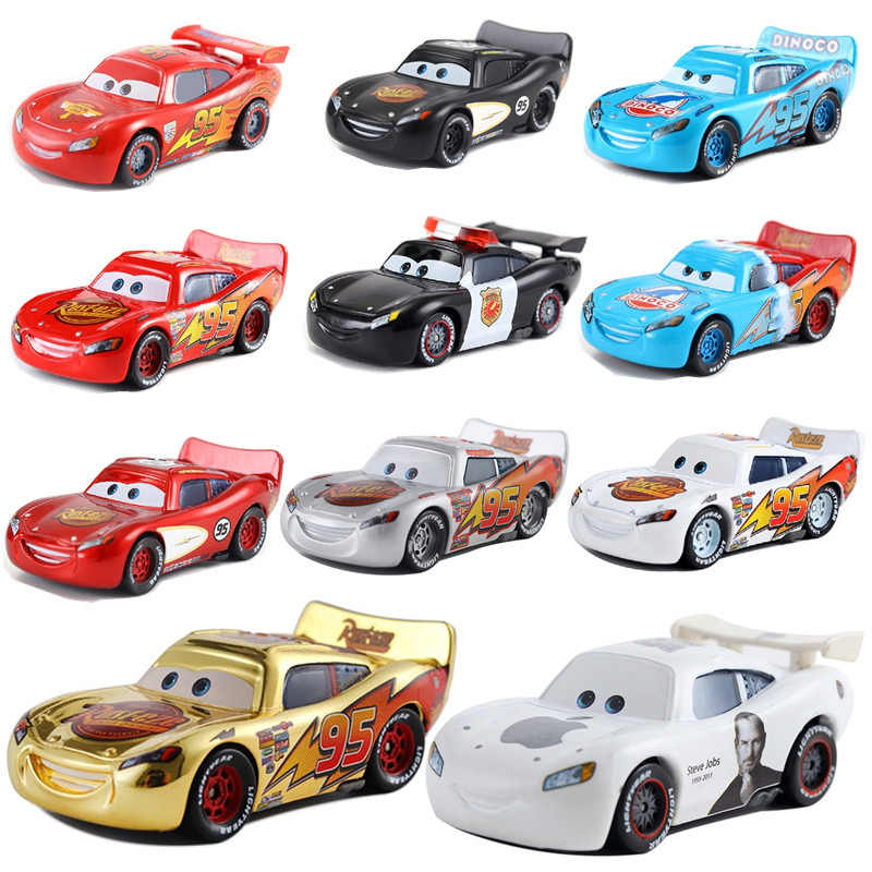 Cars Disney Pixar Cars Mack Lightning McQueen & Chick Hicks & King & Fabulous Hudson Truck Toy Car 95 Collection Free Delivery